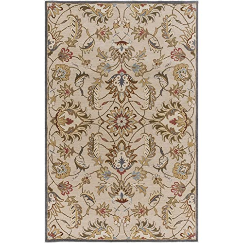 Surya Caesar CAE-1118 Hand Tufted Wool Classic Area Rug, 5-Feet by 8-Feet