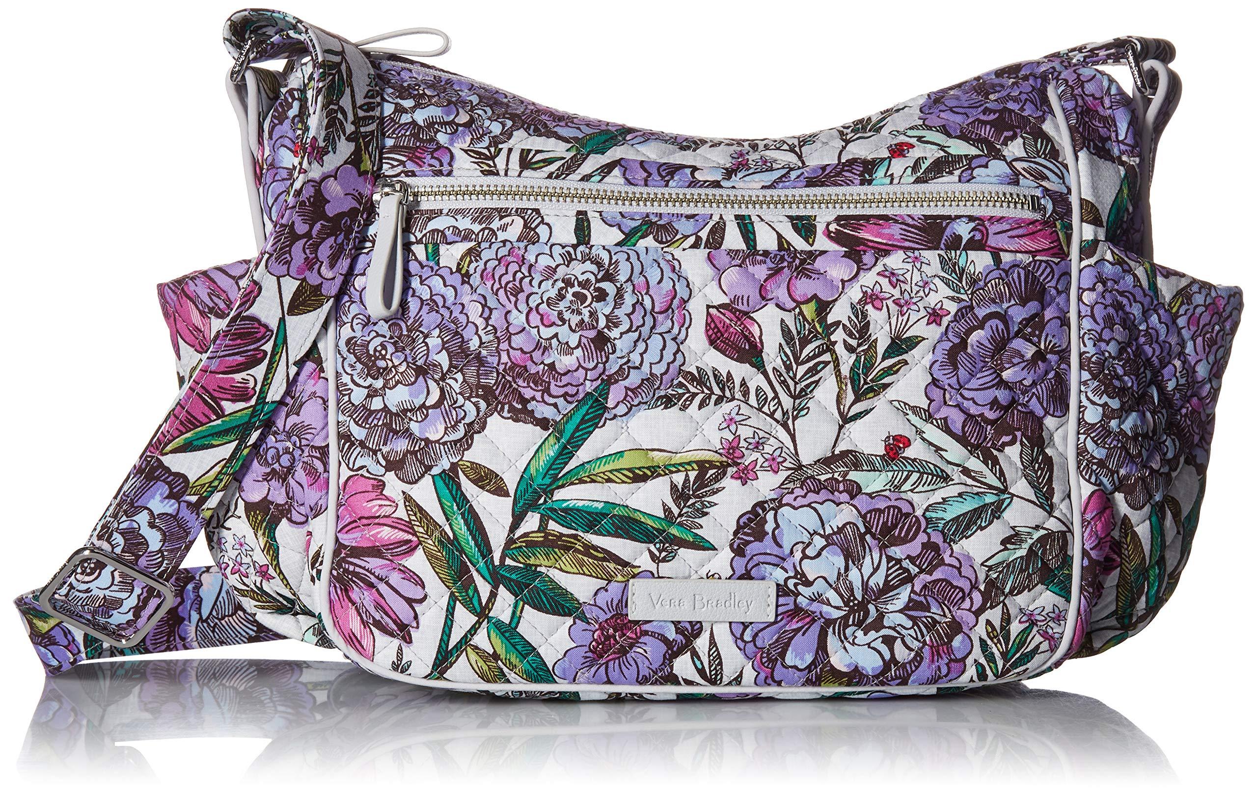 Vera Bradley Iconic On The Go Crossbody, Signature Cotton, Lavender Meadow