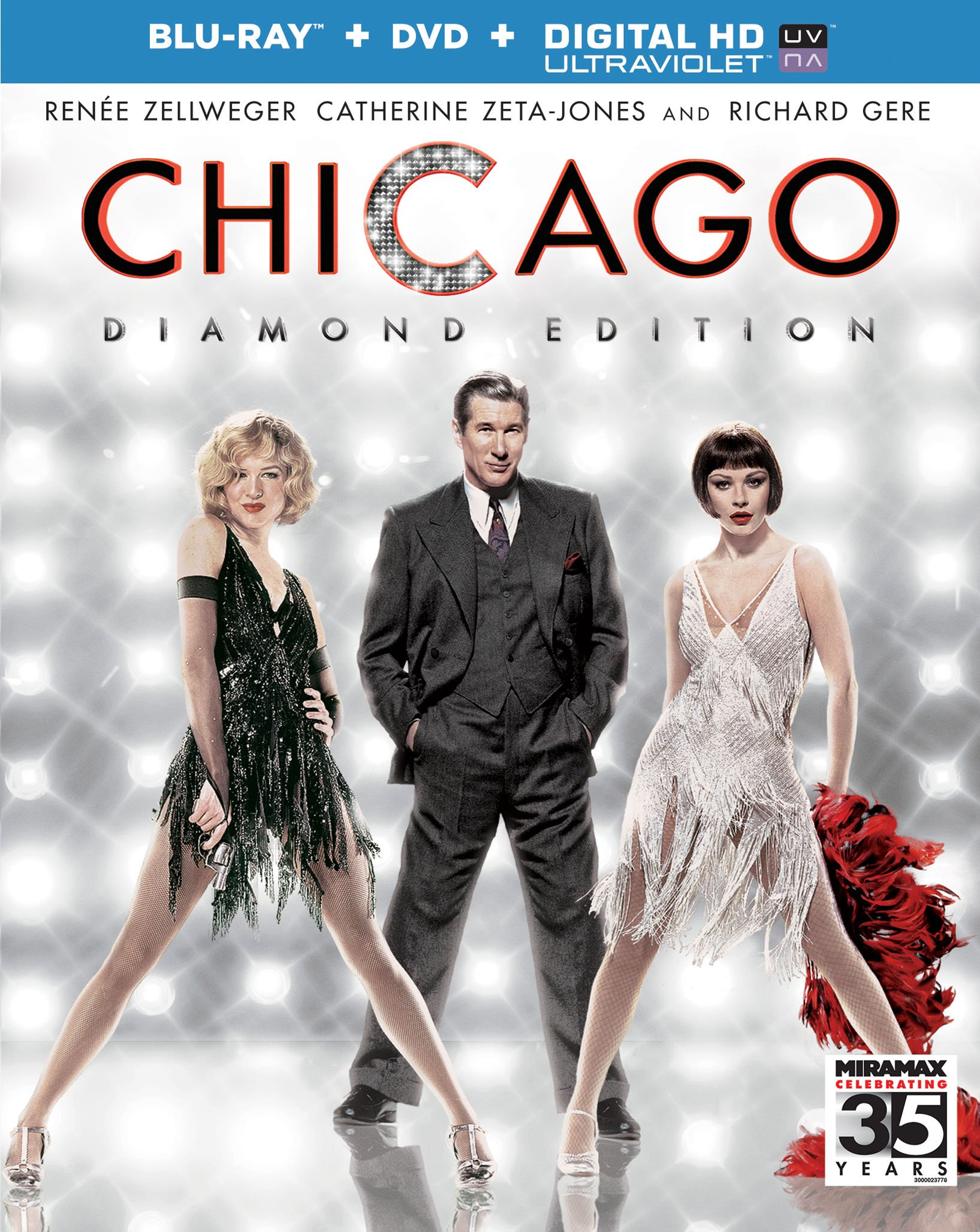 Blu-ray : Chicago (Diamond Edition) (With DVD, Ultraviolet Digital Copy, Widescreen, Digital Theater System, True-Hd)