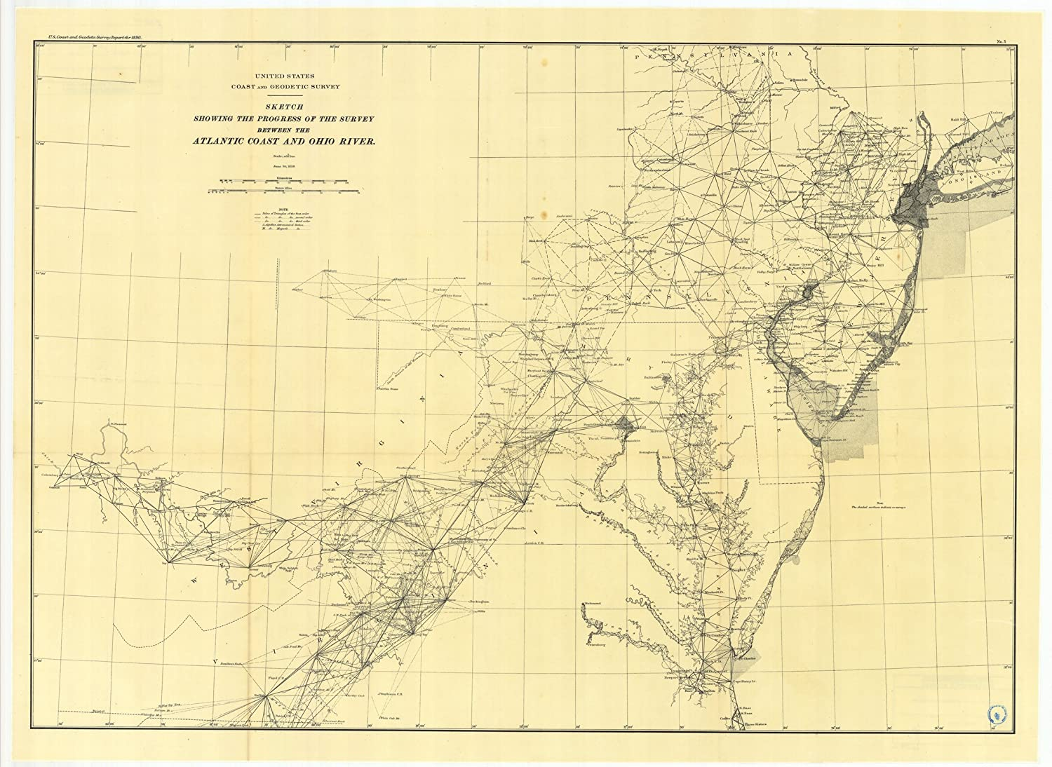 Amazon.com: Vintography c.1890 18 x 24 Reproduction Old Map ...