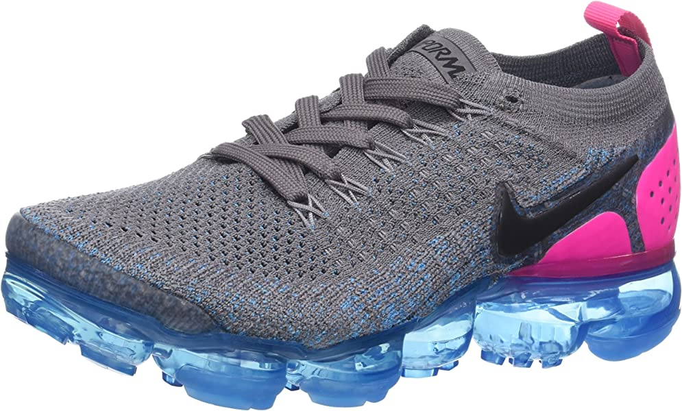 52adaae042f7 Nike Women s Air Vapormax Flyknit 2 Gunsmoke Black-Blue Orbit-Pink Blast  942843