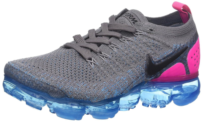 Nike W Air Vapormax Flyknit 2, Zapatillas de Running para Mujer 37.5 EU|Gris (Gun Smoke/Black/Blue Orbit/Pink Blast 004)