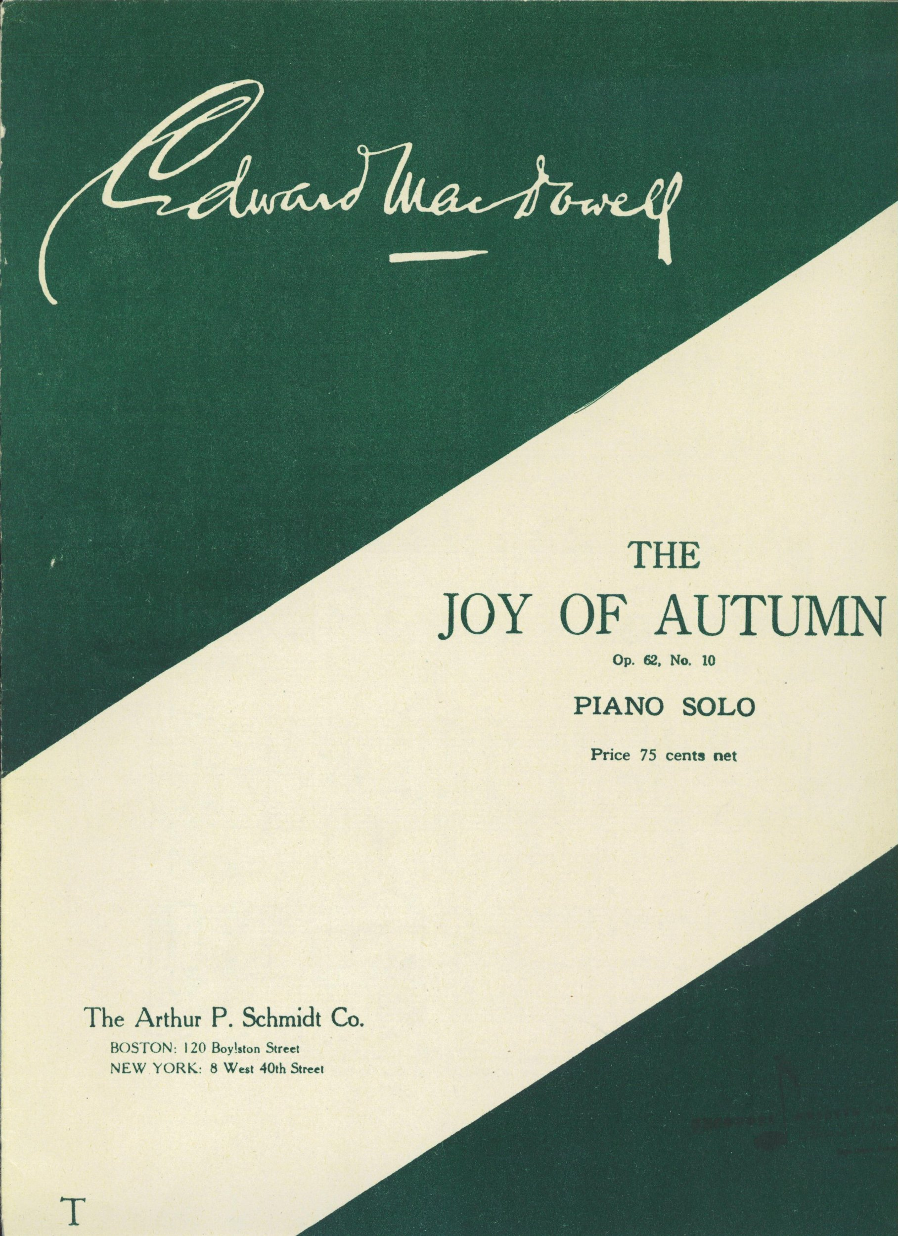 The Joy of Autumn, Op. 62, No. 10