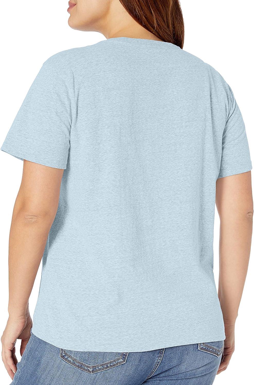 Carhartt T-Shirt da Lavoro Donna Morbido Blu Mélange