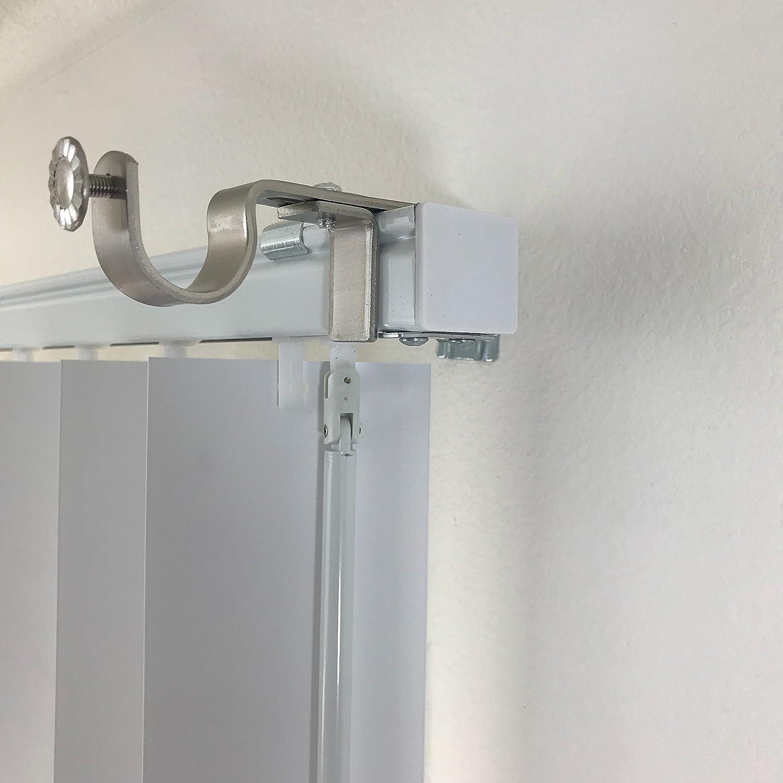 The NoNo Bracket Company Au/ßen angebrachte Jalousien Vorhang Rod Halterung Befestigung Dunkelbraun