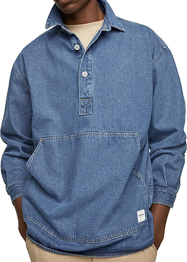 Zara - Camisa Vaquera para Hombre 4217/450 Azul S: Amazon.es: Ropa y accesorios