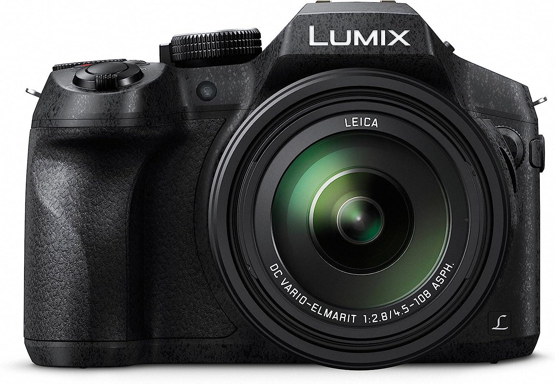 Panasonic Lumix DMC-FZ300 - Cámara Bridge de 12.1 MP (Zoom de 24X, Objetivo F2.8 de 25-600 mm, Estabilizador Óptico, 4K, Sellada contra Polvo y Salpicaduras), Color Negro