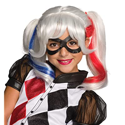 Rubie's Costume Girls DC Super Hero Harley Quinn Wig: Toys & Games