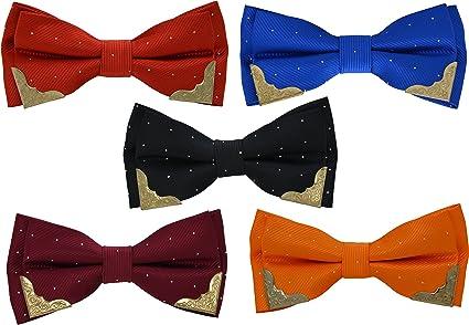 heymei men s boy s ajustable pre tied formal necktie bow tie black