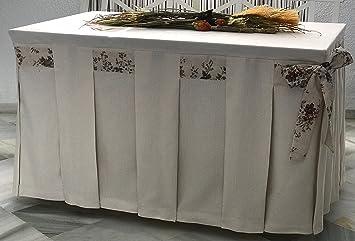 INUSUAL Falda o Ropa de Camilla Decorativa (Marfil, 120X70X72 ...