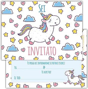 Super Partycards Set di 12 inviti Compleanno Biglietti invito per Festa VA22
