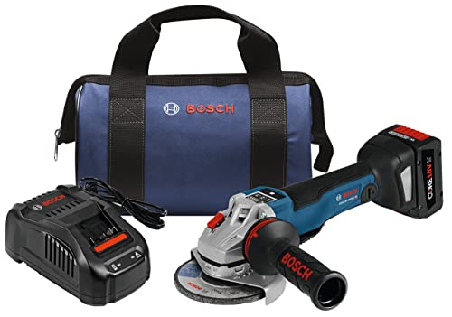 Bosch GWS18V-45PSCB14 18V EC Brushless Connected 4-1 2 In. Angle Grinder Kit with No Lock-On Paddle Switch and CORE18V Battery