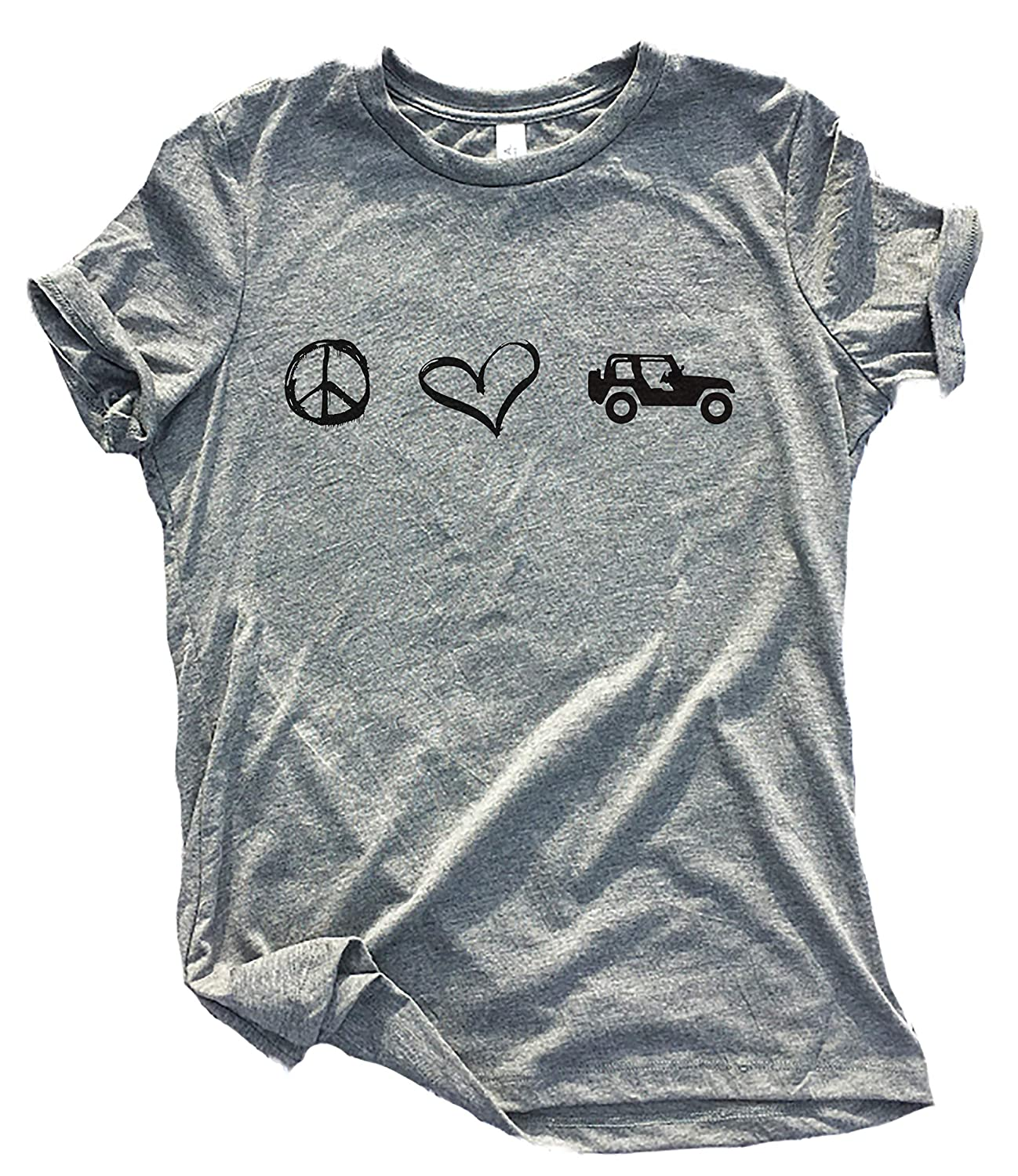 Jeep Girls Heart with Grill Inside Short Sleeve T Shirt Tank Top
