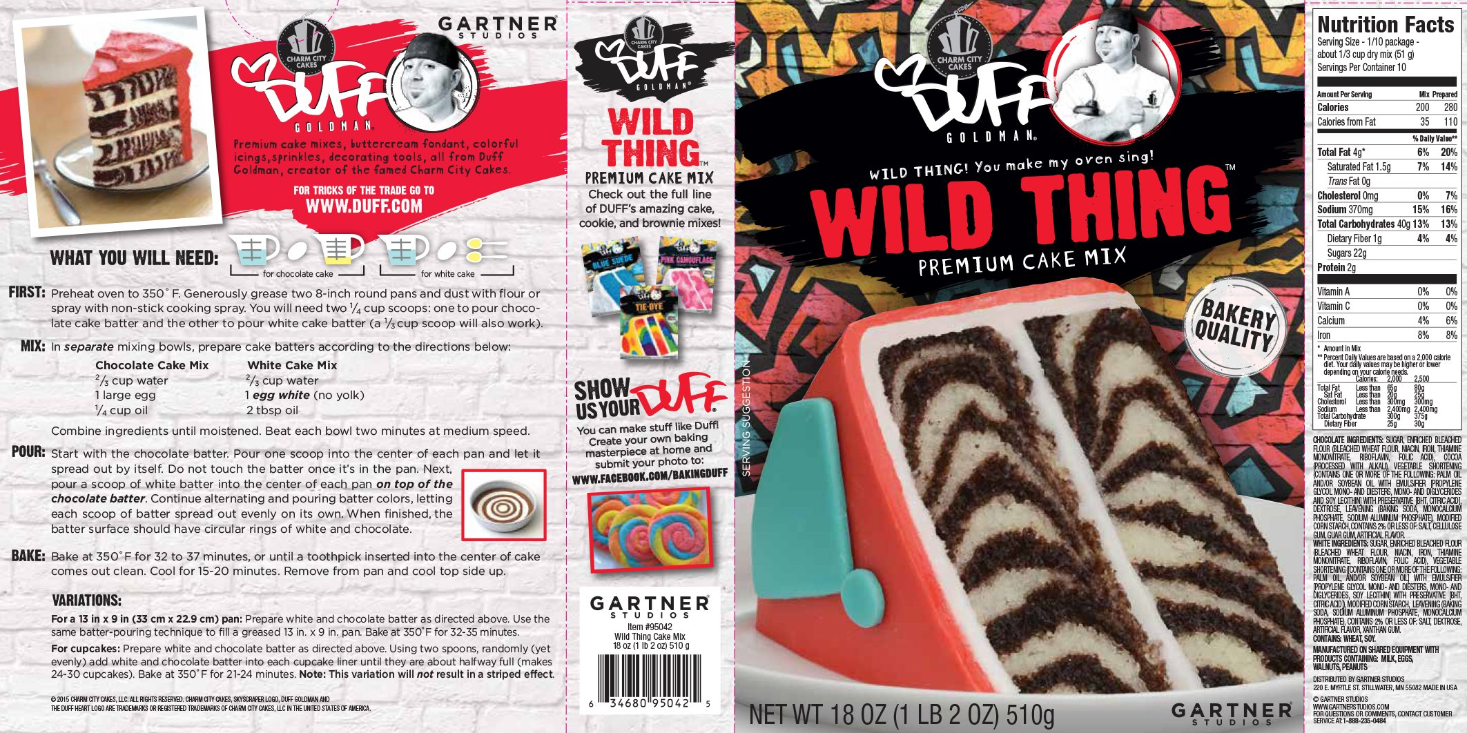 Deception Duff Decorating Cake Zebra Wild Thing, 18 oz