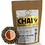 Classic Chai Tea Loose Leaf   CEYLON (110+ Cups)   100% CERTIFIED ORGANIC Chai Ingredients  Black Tea, Cinnamon, Cardamom, Cl
