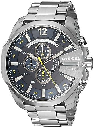Diesel Reloj Cronógrafo para Hombre de Cuarzo con Correa en Acero Inoxidable DZ4465: Amazon.es: Relojes