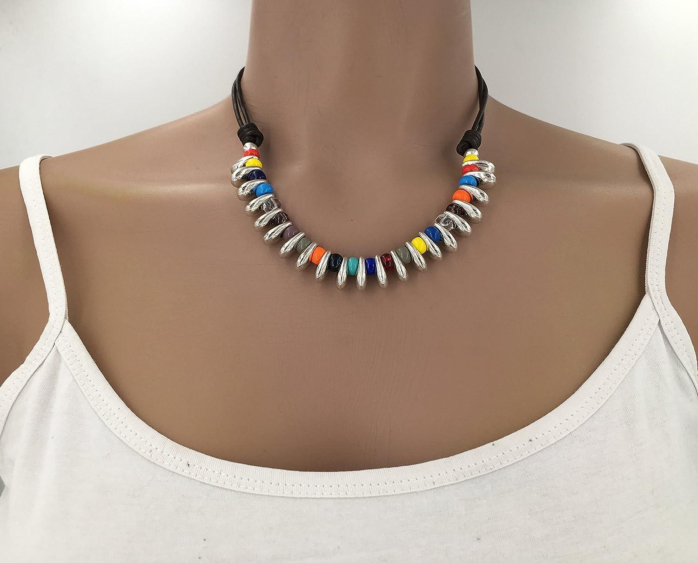 collar boho uno de 50 style necklace boho neclacke collar cuero y zamak collar zamak
