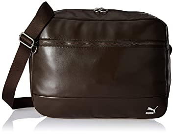 c456c737c4 PUMA Synthetic 40 cms Chocolate Brown Messenger Bag (7480702 ...