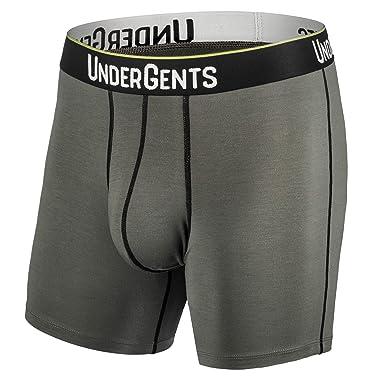 cdf332b3c640 UnderGents Men's Boxer Brief Underwear. CloudSoft Cooling Comfort Without  Compression (BattleGrey Size: Small