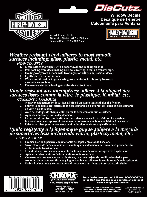Amazon.com: Harley Davidson Die Cutz - White Decal: Harley ...
