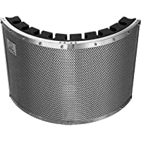 """Neewer Portable Microphone Acoustic Isolation Shield with Lightweight Metal Alloy, Acoustic Foams, Mounting Brackets and Screws for Mic Stand with 5/8"""" Thread"""