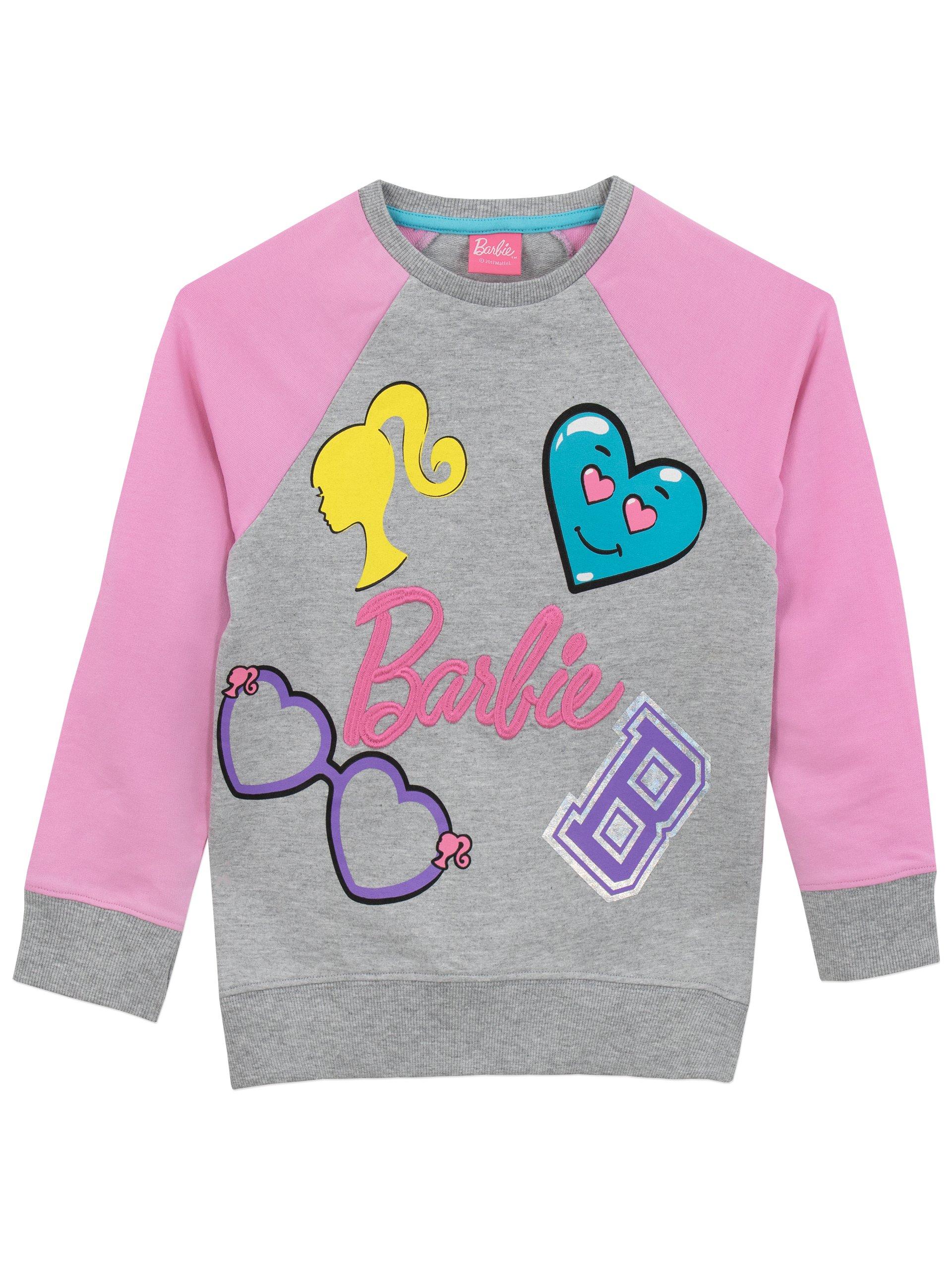 Barbie Girls' Logo Sweatshirt Size 5