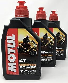 MOTUL Aceite 4 Tiempos Moto Scooter Power 4T 10W-30 MB, 3 ...