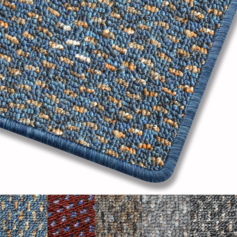 Teppich fröhlich gepunktet   Qualitätsprodukt aus Deutschland   GUT-Siegel   viele Farben und Größen (blau, 140x200cm)