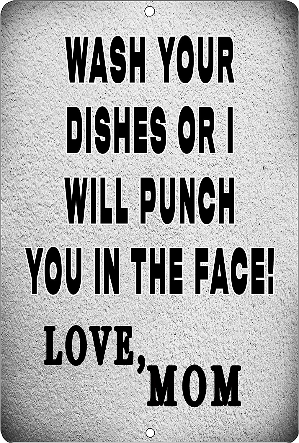 Rogue River Tactical Funny Kitchen Metal Tin Sign Wall Home Decor Bar Wash Your Dishes Signed MOM