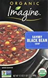 Imagine Organic Soup, Savory Black Bean, 17.3 Ounce (Pack of 12) (Packaging May Vary)