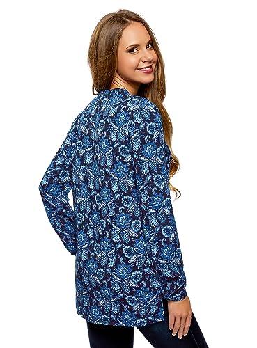 oodji Collection Mujer Blusa Estampada de Viscosa: Amazon.es: Ropa y accesorios