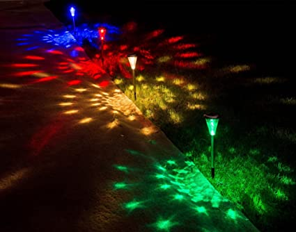 Solar Garden Lights Home Decor Outdoor Decorations Stakes Decorative  Pathwhay Light Deal Of The Day Prime