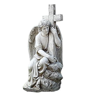 Joseph's Studio 65982 Male Angel Figure Garden Statue : Garden & Outdoor