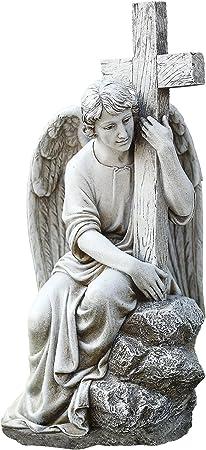 Amazon.com: Joseph s Studio macho ángel sentado sosteniendo ...