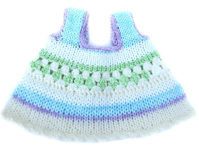 KSS Handmade Knitted//Crocheted Dress and Headband Set 6 Months