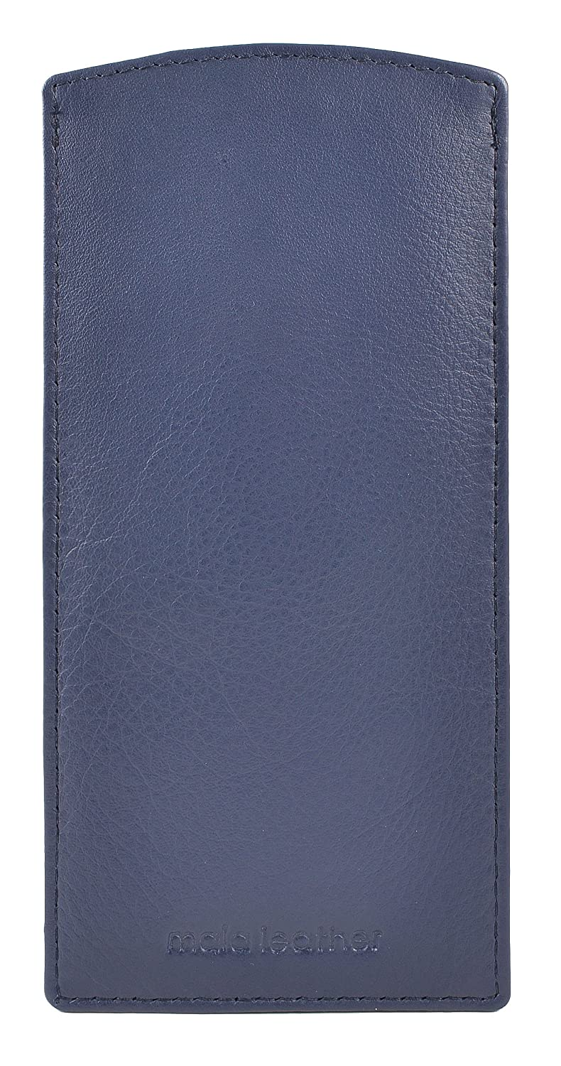 Mala Leather Slip in Glasses Sleeve Case in Soft Leather and Many Colours Black