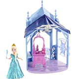 Disney Frozen MagiClip Flip 'N Switch Castle & Elsa Doll 10.1 X 3.4 X 8.2 Inches