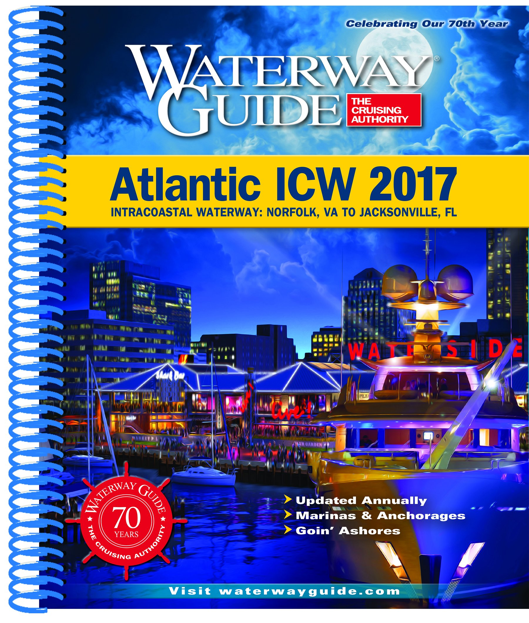 Waterway Guide Atlantic ICW 2017: Intracoastal Waterway ... on map of intercostal, map of rocky shore, map of eastern shore of maryland, map of malecon, map of amalfi coast, map of oregon coast, map of cascade mountains, map of international waterways, map of city, map of osa peninsula, map of beach, map of deserted island, map of kitsap peninsula, map of river, map of inner harbour, map of harbor, map of southeast side, map of beaches, map of gulf of mexico, map of icw,