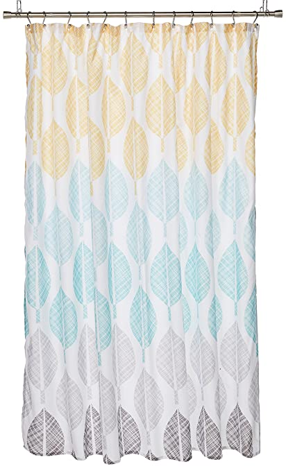 Image Unavailable Not Available For Color Central Park Printed Shower Curtain Yellow Aqua 72x72
