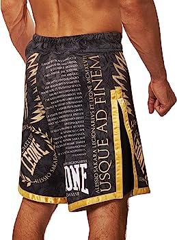 Leone 1947 AB790 Pantalones Cortos de MMA, Unisex – Adulto, Negro ...