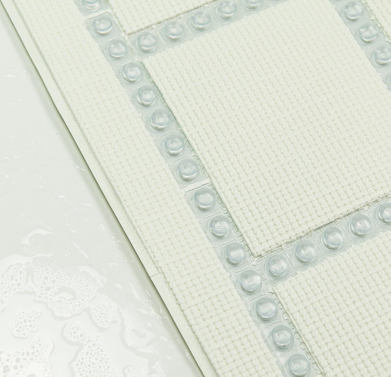 Transparente 6.5 x 34 x 0,1 cm PVC Sealskin Alfombra de Ba/ño Antideslizante Autoadhesivo
