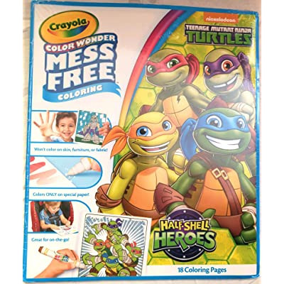 Crayola Color Wonder, Mess Free, TMNT Half Shell Heroes Coloring Pages: Toys & Games