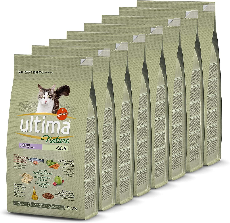 Ultima Nature No Grain Pienso para Gatos Esterilizados sin Cereales con Buey, Pack de 8 x 1.1Kg - Total: 8.8kg: Amazon.es: Productos para mascotas