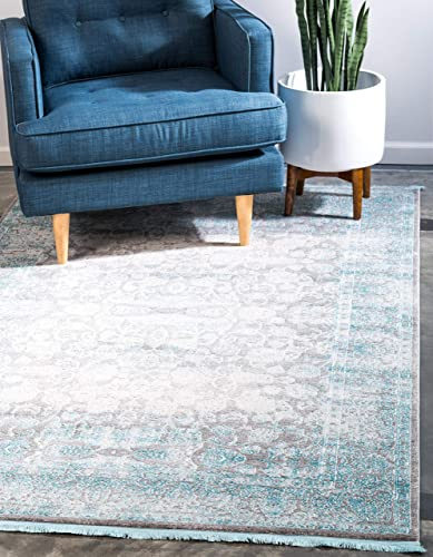 Unique Loom New Classical Collection Traditional Distressed Vintage Classic Light Gray Area Rug 10 0 x 13 0