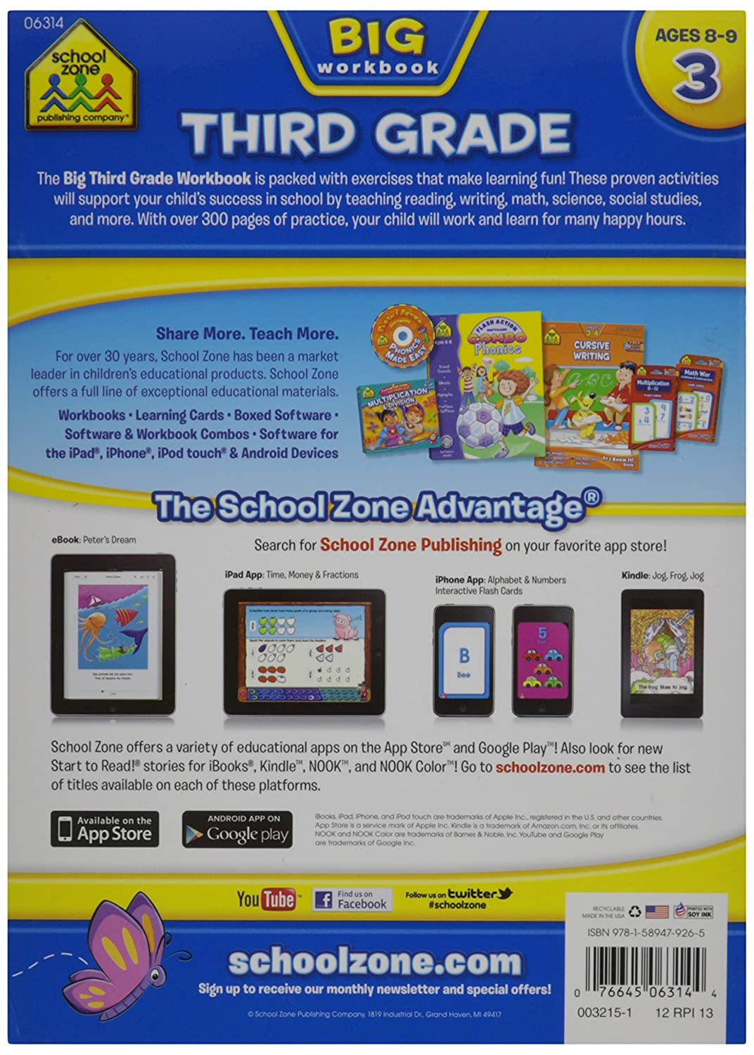 Workbooks big third grade workbook : Amazon.com: School Zone Big Workbook, Third Grade: Arts, Crafts ...