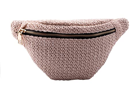 a55f49aded60 Fanny Waist Pack Rave Bag - Hippie Boho Festival Phanny Bum Packs - Tweed -  Cream