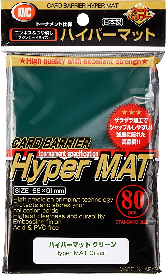 80 unidades KMC Hyper mat Black sleeves//Hyper Matt-negra fundas 92x66mm