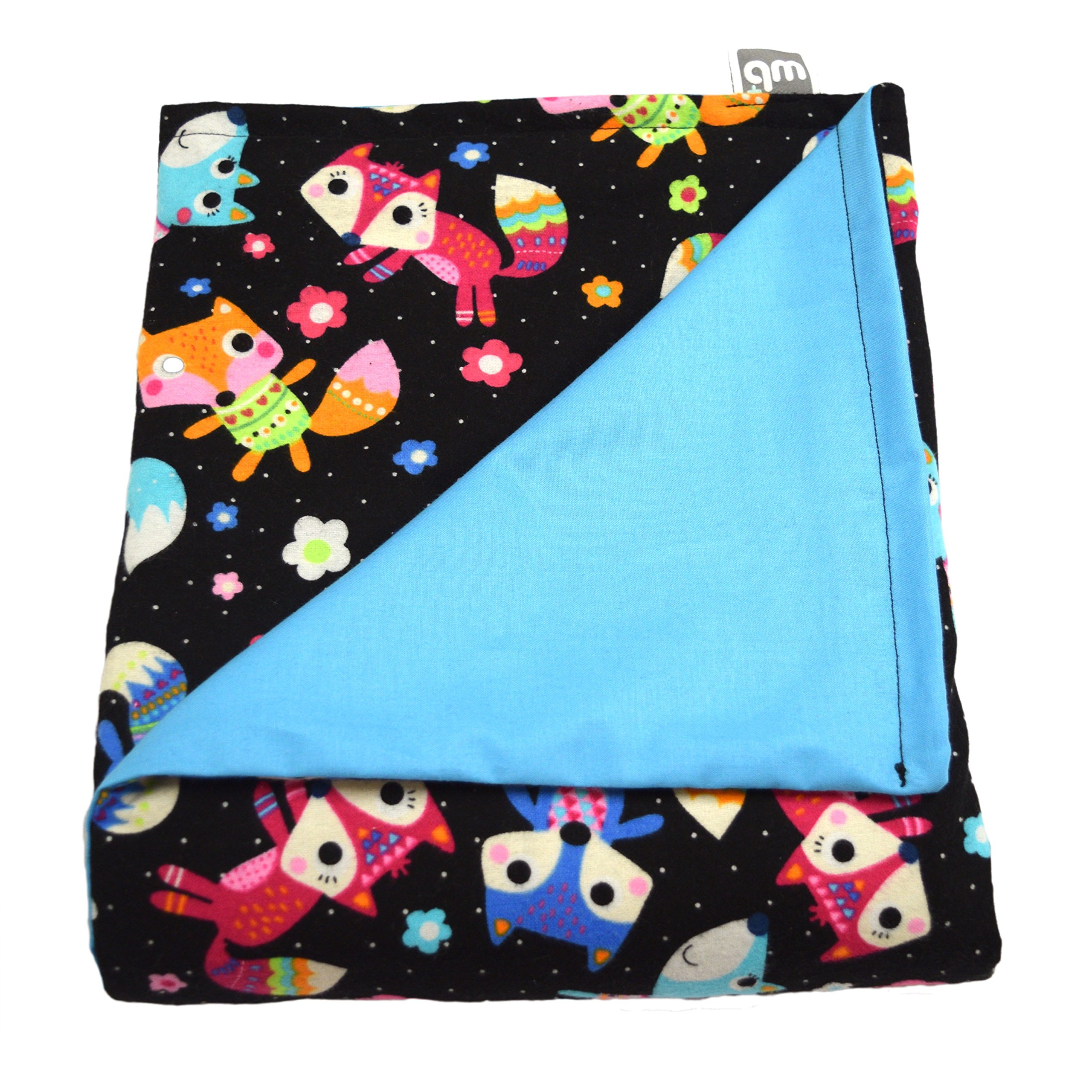 WEIGHTED BLANKETS PLUS LLC - MADE IN AMERICA - CHILD DELUXE SMALL WEIGHTED BLANKET - FOX - COTTON/FLANNEL (52'' L x 40'' W) 7lb HIGH PRESSURE.