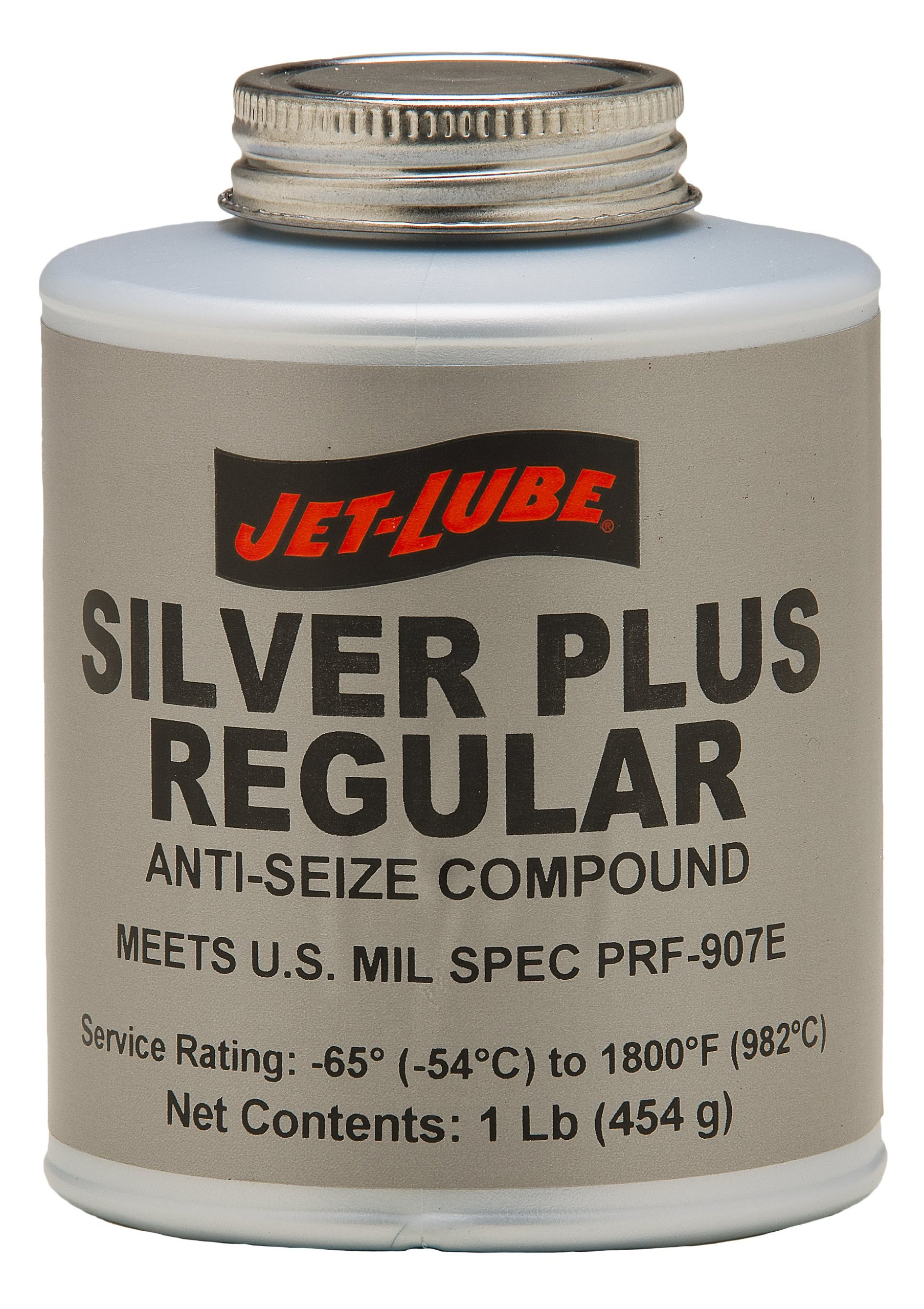 Jet-Lube Silver Plus Regular Grade Anti Seize and Thread Lubricant, 1 lbs Brush Top Can