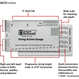 string action ruler gauge tool for electric bass and acoustic guitar musical. Black Bedroom Furniture Sets. Home Design Ideas